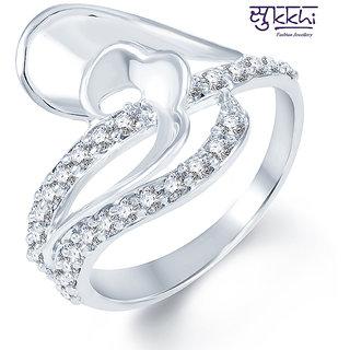Sukkhi Pretty Rodium plated CZ Studded Ring (246R490)