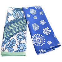 Flazee Blue With Floral Design Hand Towels