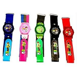 Multicolor Kids Stylish Ben 10 Wrist Watch [CLONE]