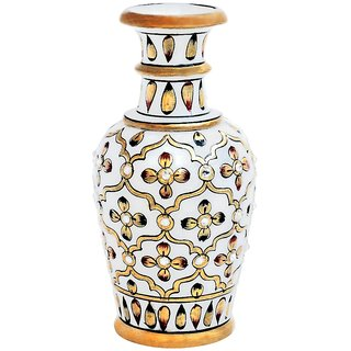 Gold Embossed Marble Flower Vase