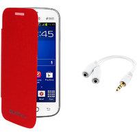 Koloredge Flipcover + Usb Car Charger For Motorola  Moto G - White