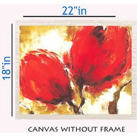MeSleep Red Rose Canvas Painting Without Frame