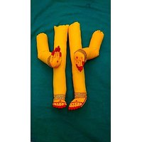 Ashthapatham Yellow (cotton Hands And Leg Set)