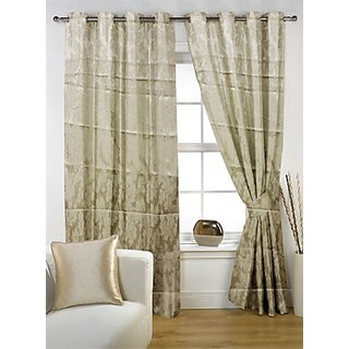 Story@Home Premium Cream Jacquard Berry Door Curtain-DBR1001
