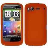 Amzer® 91007 Silicone Skin Jelly Case - Orange For HTC Desire S
