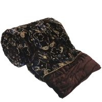 UFC Mart Designer Jaipuri Double Bed Brown Velvet Quilt