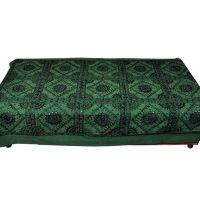 UFC Mart Heavy Mirror Hand Work Cotton Single Bed Sheet