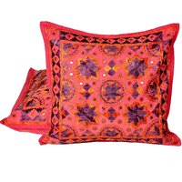 UFC Mart Chic Hand Embroidered Cotton Cushion Cover 2Pc. Set