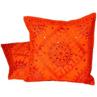 UFC Mart Hand Embroidered Cotton Cushion Cover 2Pc. Set