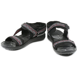 100% Original Liberty Black Floater Sandals (Size-8)