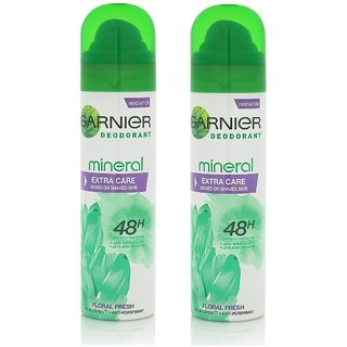 Garnier Mineral Extra Care Deodorant for Women - 150ml (Combo of 2)