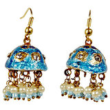 Rajasthani Turquoise Lacquer Jhumka Ear Ring