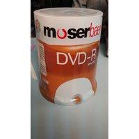 MOSERBAER BLANK DVD-R WHITE 16X-4.7GB+100 Pcs Pack