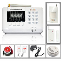 Wireless GSM Home/Office Security Kit - 99 Zones Anti-Theft Burglar Alarm System (Silver)