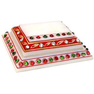 Marble Step Chowki With Kundan Work