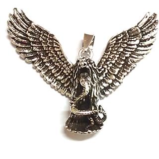 Eagle Snake Pendant  - sterling silver