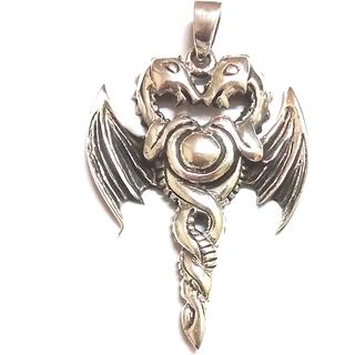 Dragon pendant- sterling silver