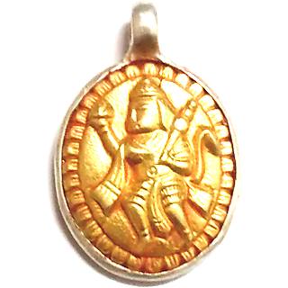 Hanuman-  Pendant in gold-silver