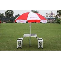 Folding Picnic Table With Umberalla - 5881784