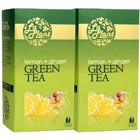 LaPlant Lemon & Ginger Green Tea - 50 Tea Bags (Combo Of 2)