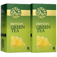 LaPlant Lemon Green Tea - 50 Tea Bags (Combo Of 2)