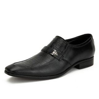 Tycoon Slip On Leather Formal Shoes Black MUN-012-BL