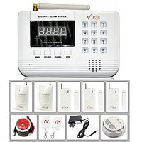 Wireless GSM Home/Office Security Kit - 99 Zones Anti-Theft Burglar Alarm System (Gold)