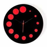 Magpie German designer wall clock black and red