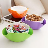 Multifunctional Double Creative Fruit,candy,dry Fruit, Bowl Dish