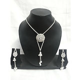 Fancy Silver Pendant Necklace Set