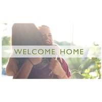 Welcome Home Door  Vinyl Home Decor PVC Wall Sticker ( PVC Plastic Sticker , 31cm X 31 Cm)