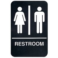Toilet Male/Female Restroom Vinyl Home Decor PVC Wall Sticker ( PVC Plastic Sticker , 18 Cm X 15 Cm)