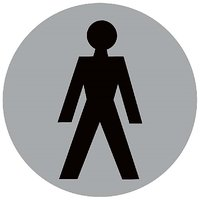 Toilet Male Restroom  Vinyl Home Decor PVC Wall Sticker ( PVC Plastic Sticker , 15 Cm X 15 Cm)
