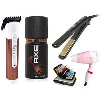 Combo Care Hair Trimmer , Hair Straightner , Hair Dryer , Axe Deo, C-wallet