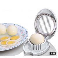 Boiled Egg Slicer / Cutter - PVC - White Color - Kitchen Essentials