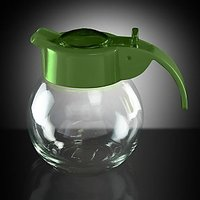 Coffee / Tea Pot / Dispener - Glass / Cyrstal - Green Color - Kitchen Essentials