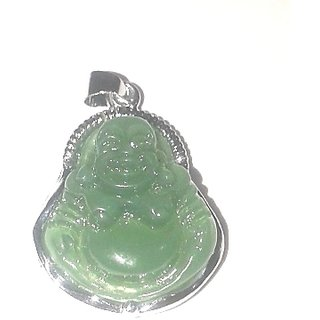 Green laughing budha pendant