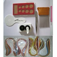 Quilling Tools - 6 Tools + 600 Strips - 12 Items