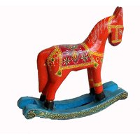 Wooden Hand Painted Roack Horse #1744