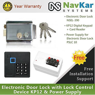 Stainless Steel Electronic Door Lock with Lock Control Device KP12  Power Suppl