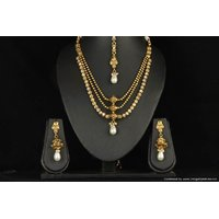Soojewelish Gold Plated Indian Traditional Jewellery Set-(vgnl 2791)