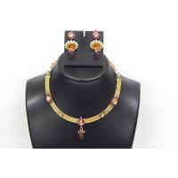 Soojewelish Beautiful Gold Plated Indian Bridal Jewellery Set-(vgnl 3036)