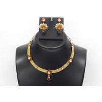Soojewelish Beautiful Gold Plated Indian Bridal Jewellery Set-(vgnl 3038)