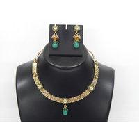 Soojewelish Beautiful Gold Plated Indian Bridal Jewellery Set-(vgnl 3040)