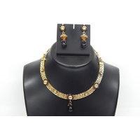 Soojewelish Beautiful Gold Plated Indian Bridal Jewellery Set-(vgnl 3041)