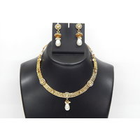 Soojewelish Beautiful Gold Plated Indian Bridal Jewellery Set-(vgnl 3042)