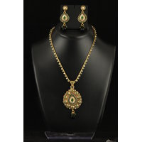 Soojewelish Fashionable Gold Plated Indian Traditional Jewellery Set-(vgnl 3045)