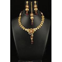 Soojewelish Gold Plated Indian Bridal Jewellery Set-(vgnl 3074)