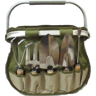 Prism Fold Away Basket Gardening CA3552-W.01 Garden Tool Kit(5 Tools)