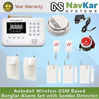 99 Zones Wireless GSM / Landline Home Security Anti-Theft Burglar Alarm System!!
